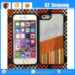 Luxury Marble Stone Natural Wood Case for iphone 6 6s