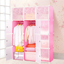 Lovely girls wardrobe in pink color