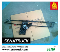 Wiper linkage rod and motor assembly Sinotruk A7 WG1661740022