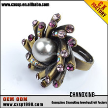 New products white gemstone rings jewelry bead