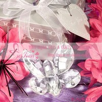 Choice Crystal Collection Clear Butterfly Design Favors Crystal Wedding Party Favors And Gifts For Guests Birthday Party Favor