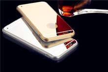 wholesale cheap mirror back phone case mobile phone/ultra thin silicone cases mirror for iphone 6