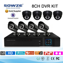 Waterproof Dome IP Camera NVR Kit H.264 Onvif Linux NVR System 720P 8CH POE IP Security Camera Set