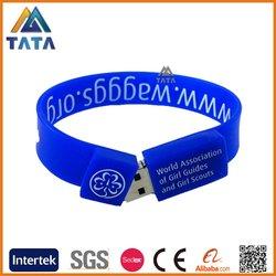 TATA Cheap Custom USB Flash Drive Silicone Bracelet