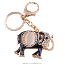 2014 new design cute Elephant with diamond key chain
