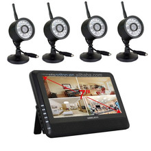 7inch HD 2.4G Wireless CCTV security camera system for home application