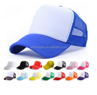 Wholesale Yupoong 5 Panel Foam Mesh Trucker Cap/Hat Custom Colorful Blank Trucker cap
