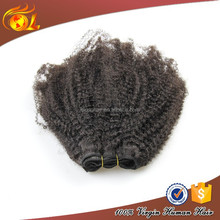 Fashion afro kinky straight hair weave, wholesale afro kinky human hair weft