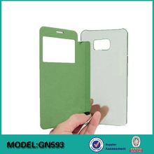Folio Cover + Clear Hardshell Back Cell Phone Case Cover For Samsung
