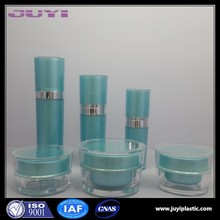 wholesale acrylic cosmetics packaging bottles container 120ml Taper acrylic jar and lotion bottle series