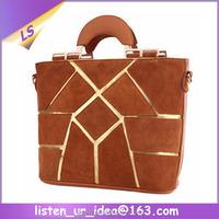 Wholesale Retail Women Nubuck Patchwork Handbags