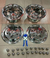 "stainless steel wheel cover for toyota coaster 16"" wheel rim"
