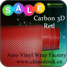 3D Carbon Fiber Vinyl Wrap for motorcycle and car sticker