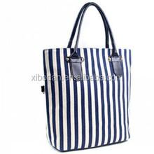 Fashion women Canvas&PU Leather shoulder bag Totes & Shoppers women bag wholesale