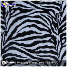 100% Polyester Zebra Printed Fabric