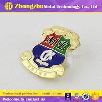 Zinc alloy Metal Soft enamel pin badge with top grade