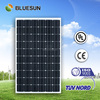 Bluesun BIPV High quality best price mono 250 Watt transparent solar panels