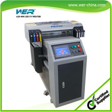 A2 size 395nm uv light flatbed plastic card printer