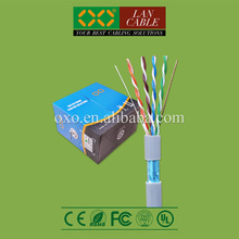2015 LAN Connect 305m 1000ft FR PVC Sheath Jacket 4PR 24AWG 0.51mm Solid CCA Cat5e FTP Communication Cable