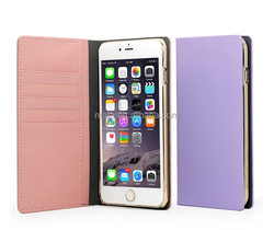 2015 Best Selling Wallet Case With 5 Card Slots Leather Phone Case For iPhone 6