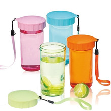 colorful insulated plastic water bottle for office