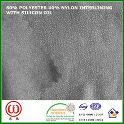 Soft hand nonwoven fusible nylon interlining fabrics