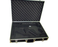 extruded aluminum case corrosion-proof aluminum gun case with safe lock and strong handle