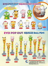 Movable items with eyes pen&pop out eyes ball pen