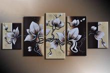 simple flower paintings oil group/group oil painting
