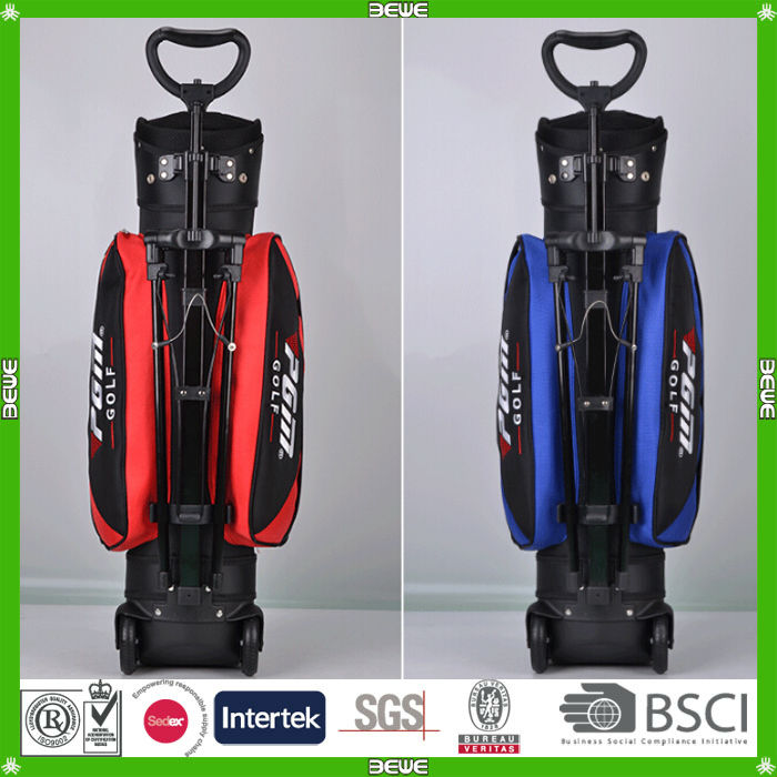 2014 promotional good quality golf bags with wheels