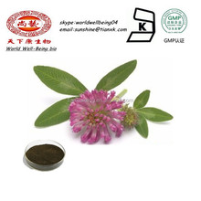 Isoflavone 40% Red Clover Herb Extract Powder / Red Clover Seed Extract Isoflavone Powder / Red Cover Leaf Powder