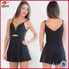 2015 Fashion style clothes for Women new design playsuit in black