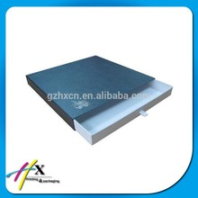 Slide Packaging Cardboard Drawer Box with Ribbon Handle
