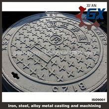 asphalt painted BS EN124 standard manhole cover and gratings
