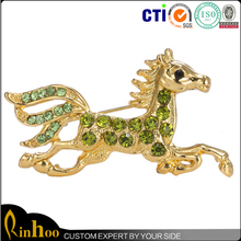 High Quality Fashion Cheap Wholesale Jewelry, Top Sale Gallop Horse Brooch, Premium Alloy Brooch With Rhinestone Inlay