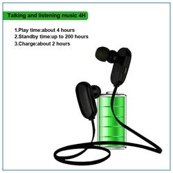 2015 hot sale in-ear headset sport V4.0 CSR wireless bluetooth headset wireless communication earpieces