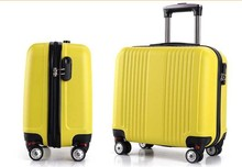 ABS aluminum suitcase with 360 degree wheels trolley bag
