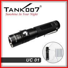 2015 Newest USB rechargeable torch light LED from TANK007 manufacturer rechargeable torch light