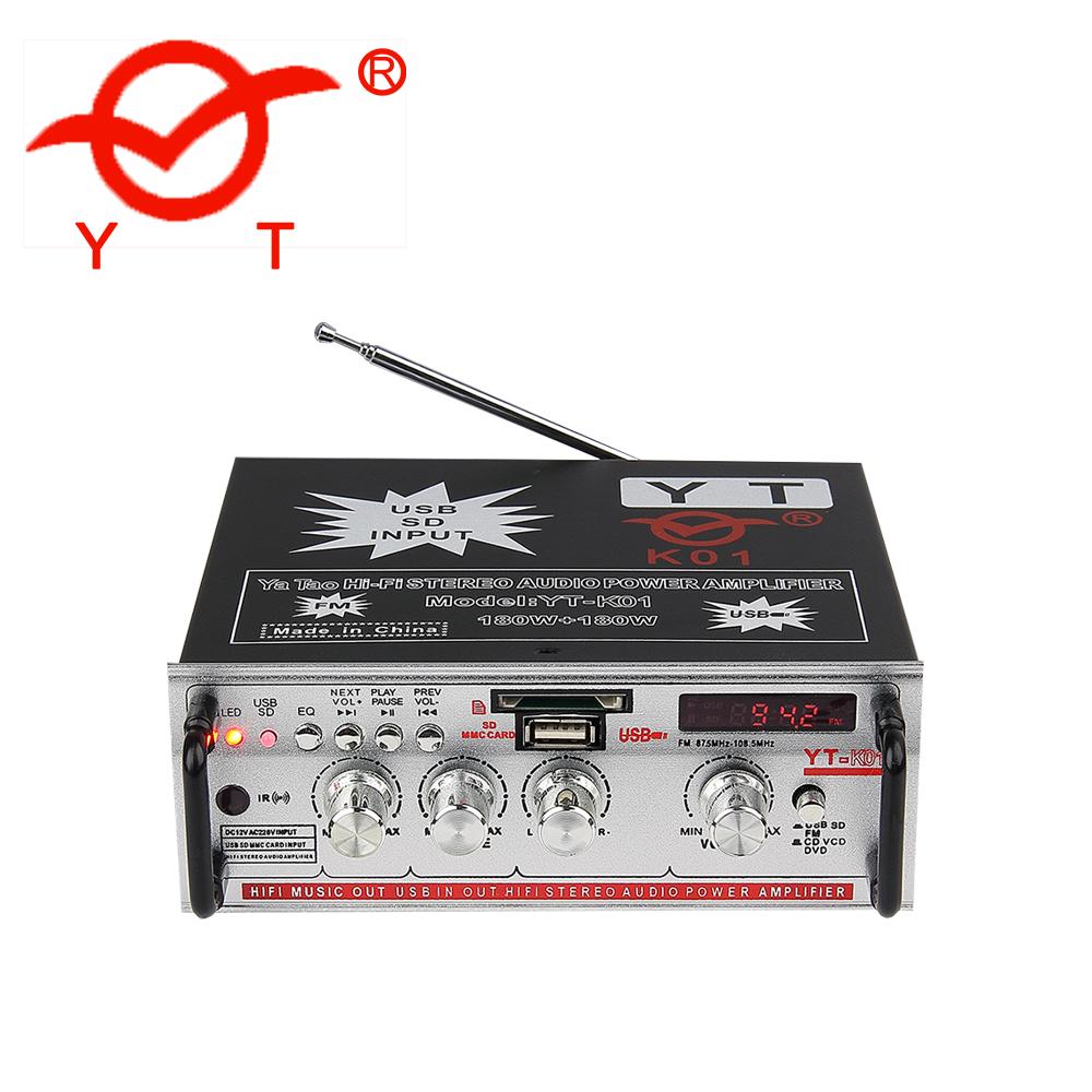 Arirang karaoke xe khuếch đại 220 v YT-K01 với FM/SD