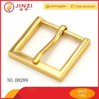 Jinzi Fashion gold metal clip pin buckle, make custom belt buckle for bags/ straps