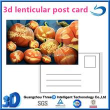 custom 3d lenticular promotional post cards For Pumpkin Festival