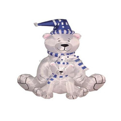 inflatable decoration lighting/6 Foot Christmas Inflatable 2 Polar Bears with Blue Scarf Blow up Yard Decoration