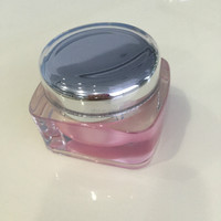 15g 30g 50g Square Acrylic Jar Cream Packaging, Plastic Cosmetic Container