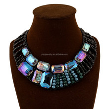 Bohemia style handmade beaded hollow out collar necklaces