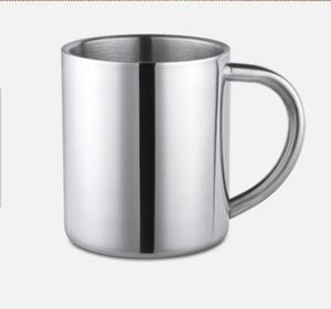 ステンレス鋼二重壁抗ホットクリエイティブ子供の学生カップ小さなティーカップガラスミルクマグコーヒー