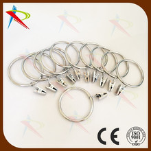 American Living Set of 11 drapery/ curtain metal Clip Rings - Chrome
