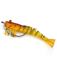 8.5cm fishy smell soft plastic shrimp fishing lure EXW price In stock China factory OEM fishing lure 85mm 8.5g 10 colors availa