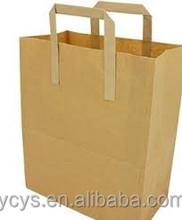 2015 new high quality cheap brown kraft paper foldable shopping bag