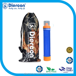 Summer Promotional Outdoor personal water filter straw for wildness camping&hiking water filter for survival PS01)