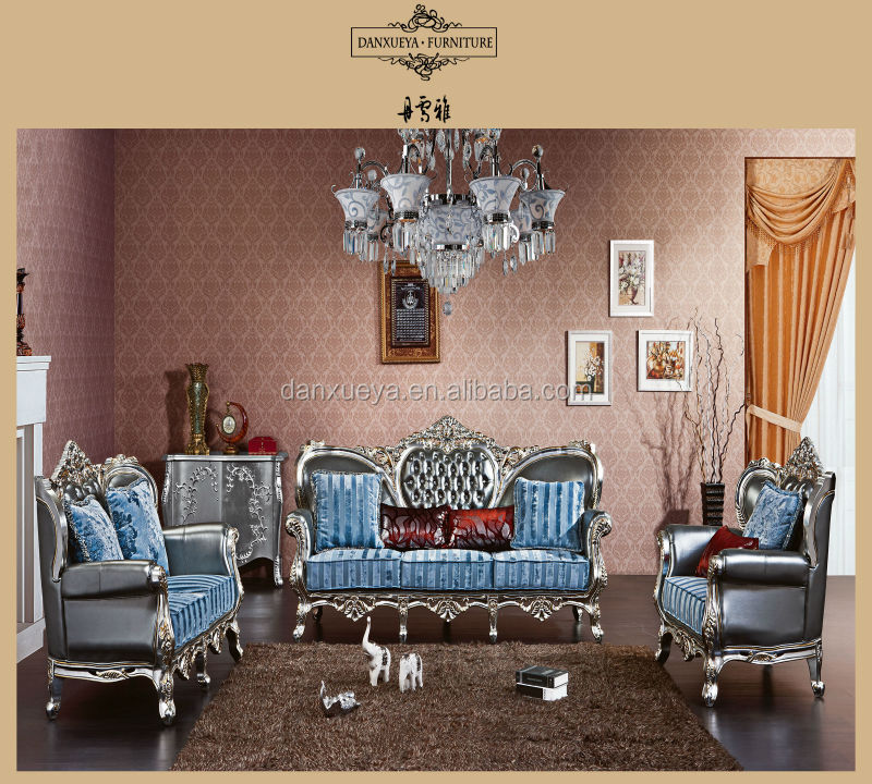 Luxury French Style Living Room Furniture Genuine Leahter Combined Luxury Fabric Sofa Set Buy